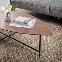 Leaf 120cm Coffee Table - Walnut