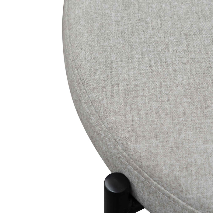 Lesley Grey Fabric Natural Rattan Dining Chair - Black
