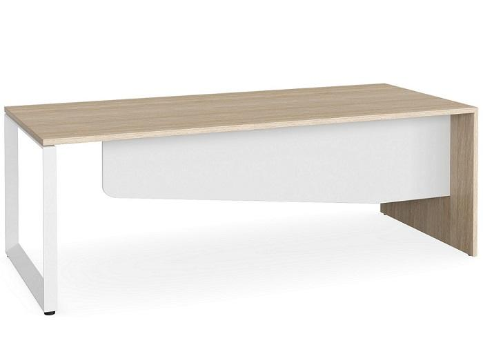 Lite Forum 1.8 Executive Desk - Natural White