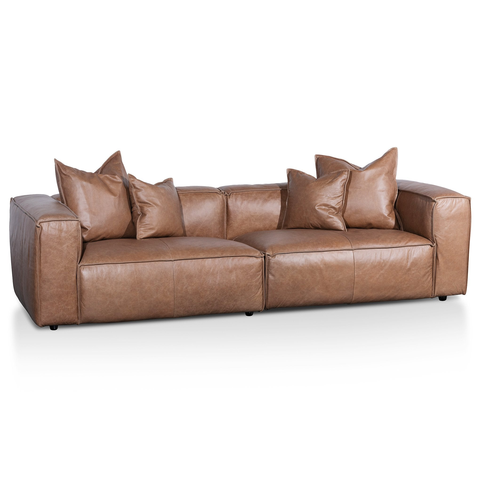 Loft 3 Seater Sofa With Cushion And Pillow Saddle B Interior Secrets