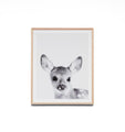 Lovable Fawn Framed Wall Art Print