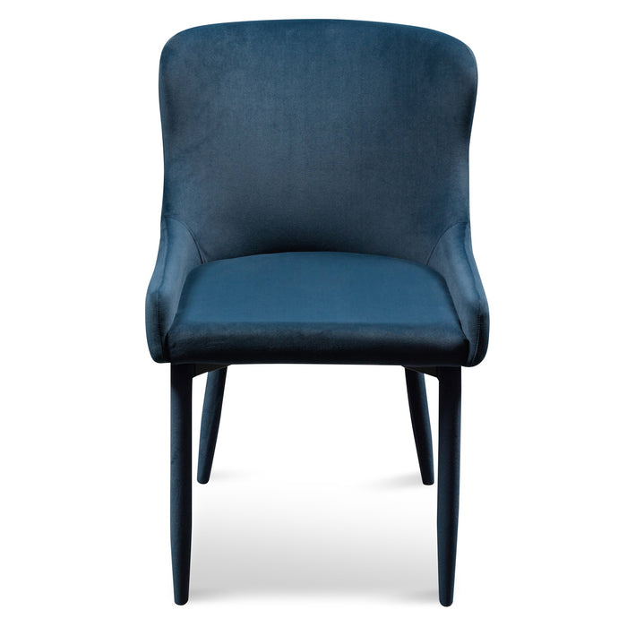 Lozano Velvet Dining Chair - Navy Blue