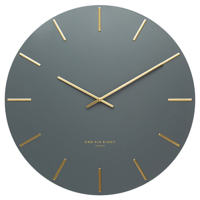 Lin 40cm Silent Wall Clock - Charcoal