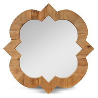 Lydia 90cm Recycled Fir Round Mirror