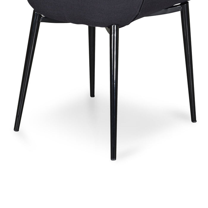Lynton Fabric Dining Chair - Black