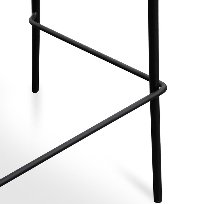 Maddox 65cm PU Pad Seat Bar Stool - Black