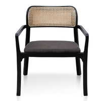 Madeline Fabric Armchair - Anchor Grey in Black Legs