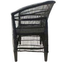 Mangrove Cane Outdoor Armchair - Black