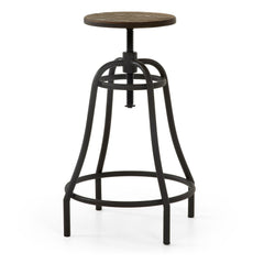 Malibu Outdoor Adjustable Bar Stool - Graphite
