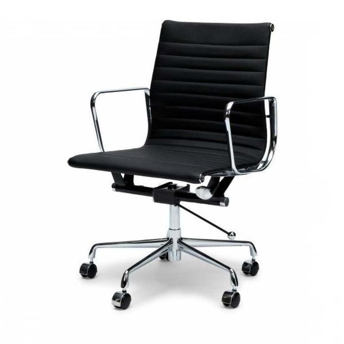 Management Leather Boardroom Office Chair - Eames Replica - Black