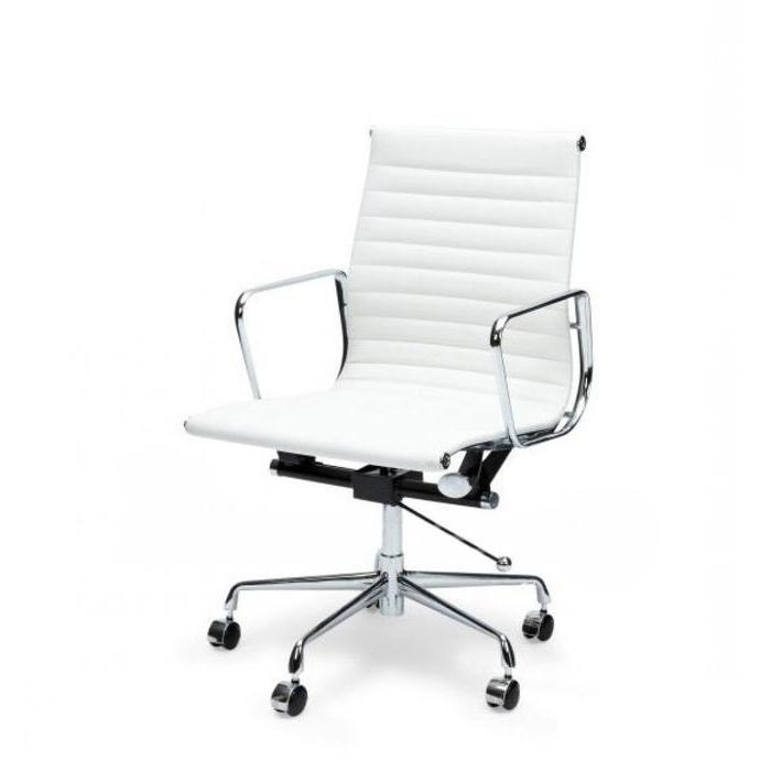 Floyd Low Back Office Chair - White Leather