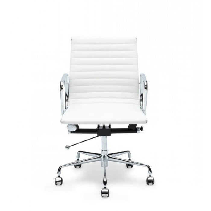 Management Leather Boardroom Office Chair - Eames Replica - White