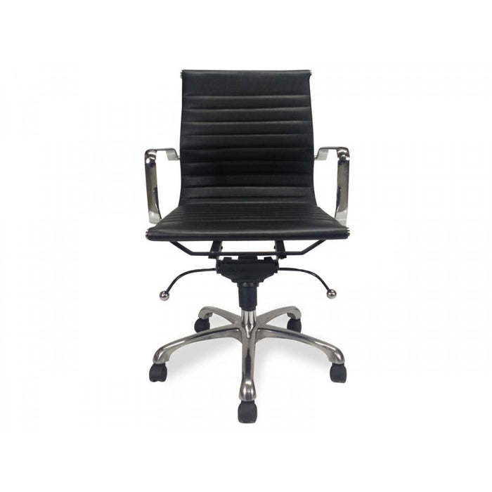 Management Leather Office Chair - Eames Inspired - Black
