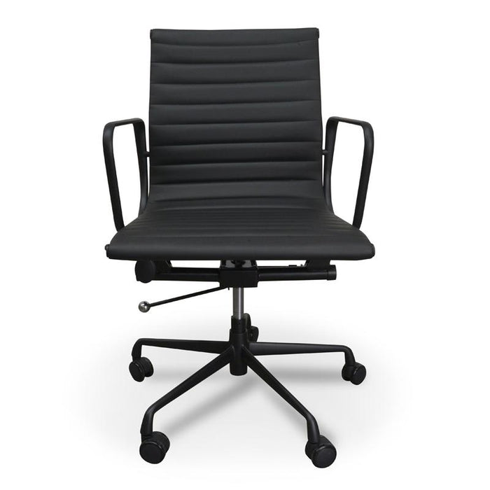 Management PU Leather Office Chair - Eames Replica - Full Black