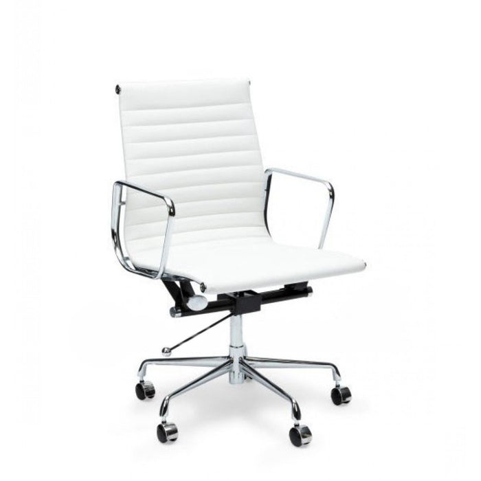 Management PU Leather Office Chair - Eames Replica - White