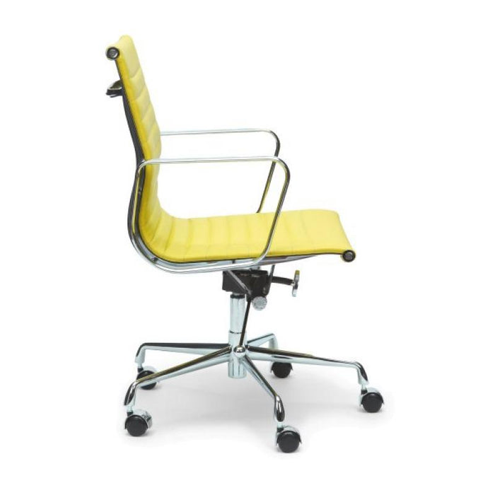 Management PU Leather Office Chair - Eames Replica - Yellow