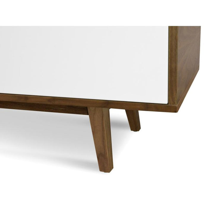 Marc 2.1m Scandinavian Lowline TV Entertainment Unit - Walnut