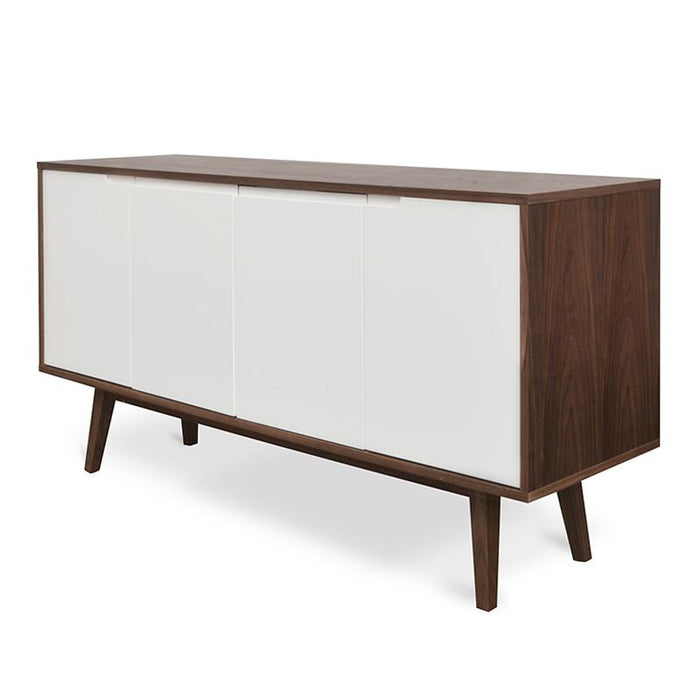 Marc Scandinavian Sideboard Buffet Unit - Walnut