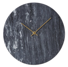 Marcella Marble Wall Clock - Black