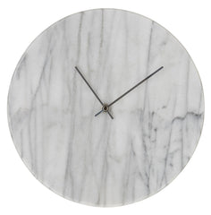 Marcella Marble Wall Clock - White