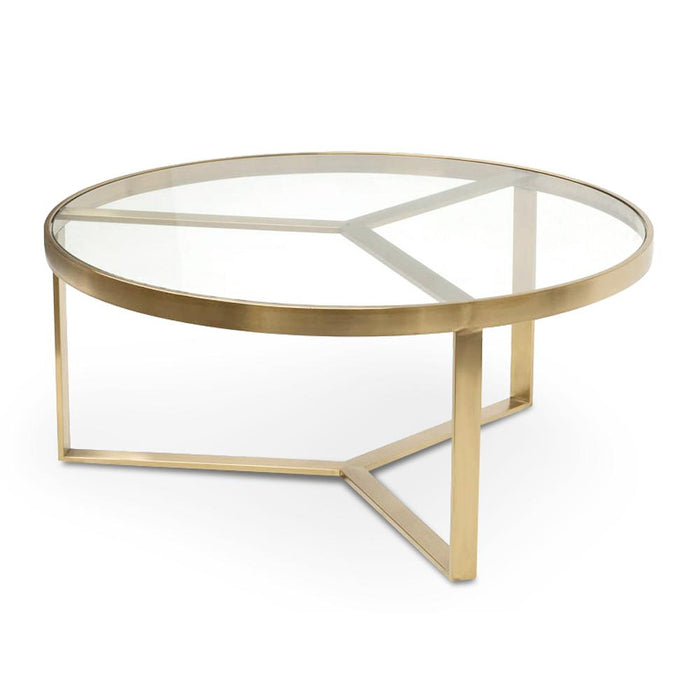 Marcelo 90cm Coffee Table - Brushed Gold Base