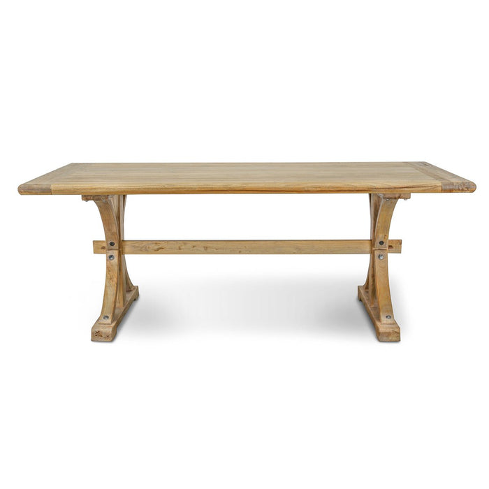 Marcus Reclaimed Elm Wood Dining Table 1.98M - Natural