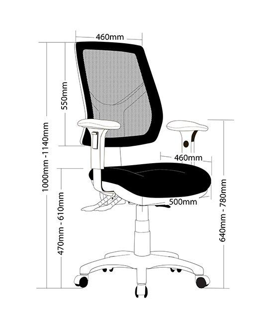 Maris Mesh Office Chair - Black