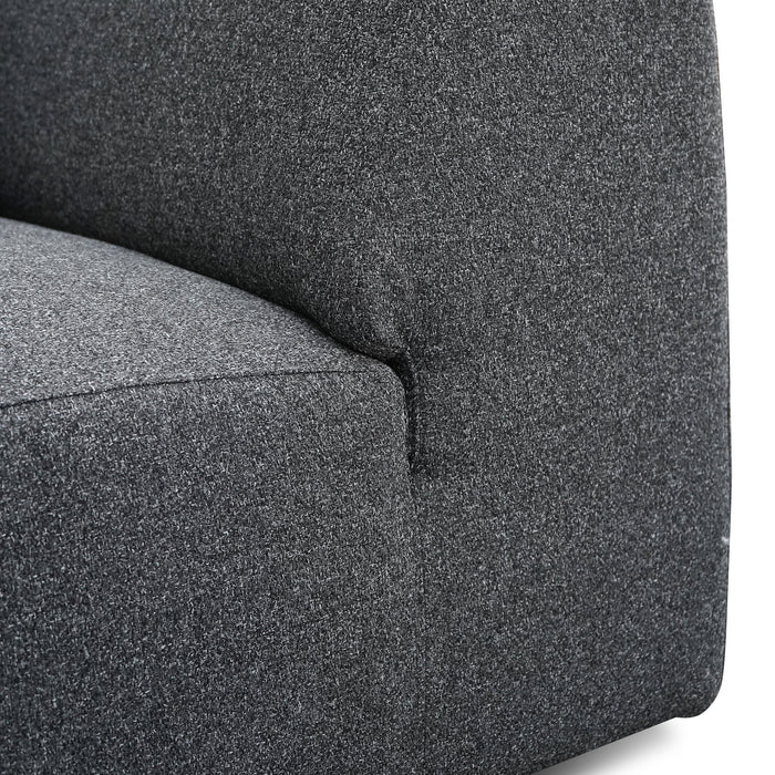 Marlin 3 Seater Right Chaise Fabric Sofa - Dark Grey