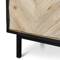 Marshall Reclaimed 180cm Sideboard and Buffet In Black - Black Base