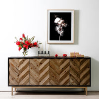 Marshall Reclaimed 180cm Sideboard and Buffet in Black - Golden Base