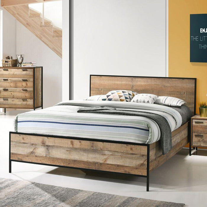 Mascot Timber Queen Bed-Natural