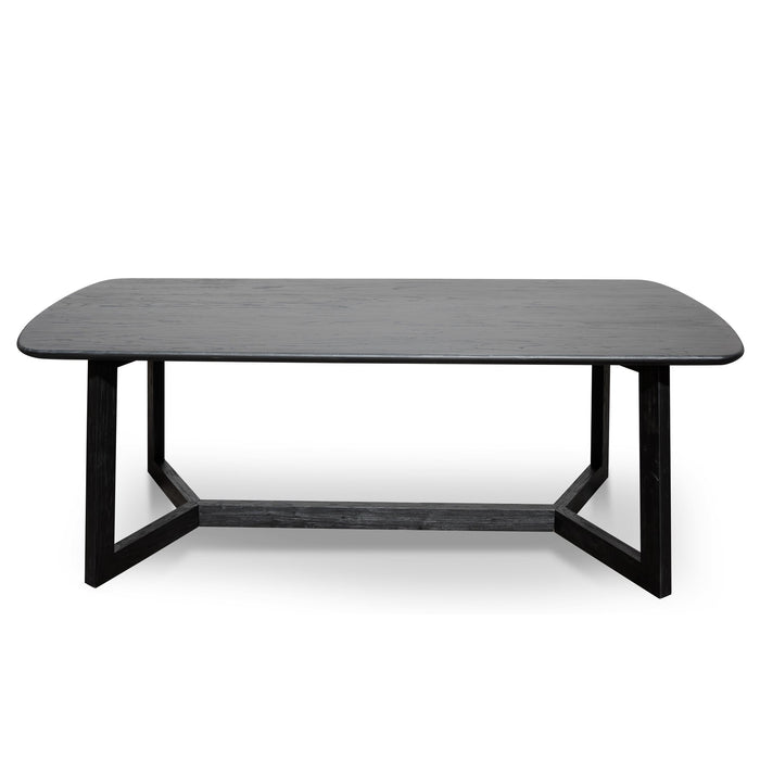 Massey 2.2m 8 Seater Dining Table - Black