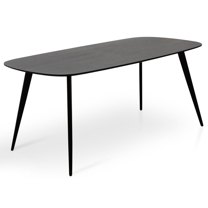 Maxwell 6 Seater Dining Table 1.8m - Black Oak Veneer
