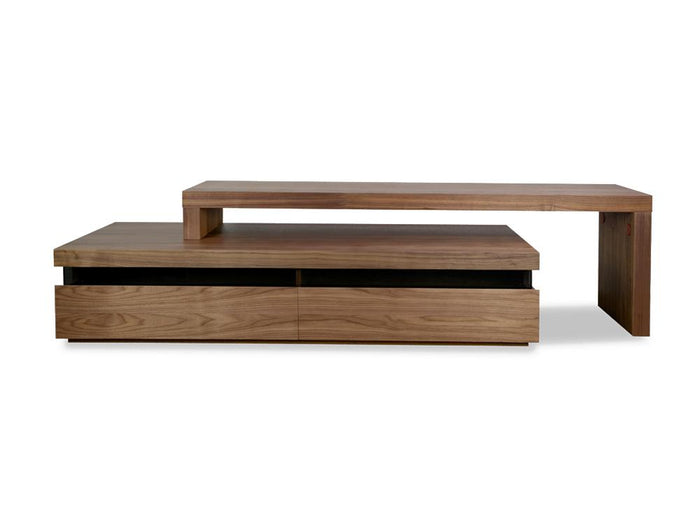 Maze 1.7-2.8m TV Entertainment Unit - Lowline - Walnut