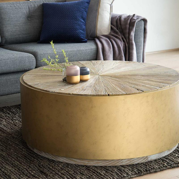 Melvin 1m Reclaimed Elm Coffee Table