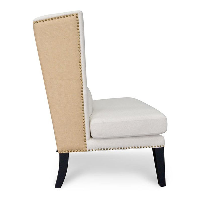 Mercer Lounge Wingback Chair in Classic Cream