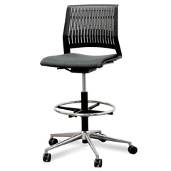 Milas Drafting Chair - Black