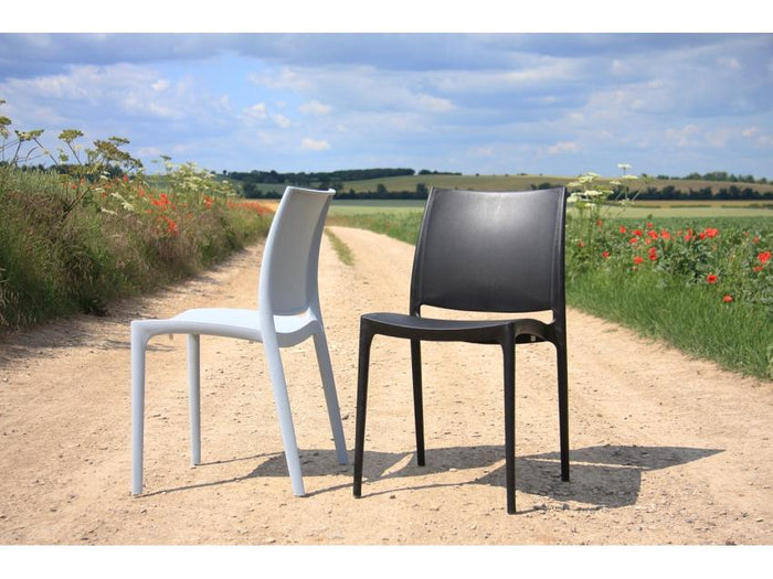 Mode Indoor / Outdoor Dining Chair - Silver Grey