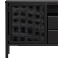 Molina 1.56m Wooden Sideboard - Black
