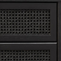 Molina Wooden 6 Drawer Chest  - Black
