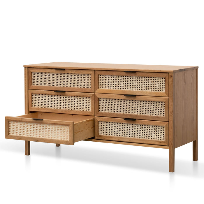 Molina Wooden 6 Drawer Chest  - Natural