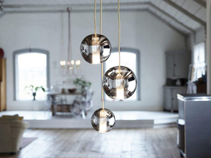 Moon Space 125mm Pendant Lamp - Semi Black
