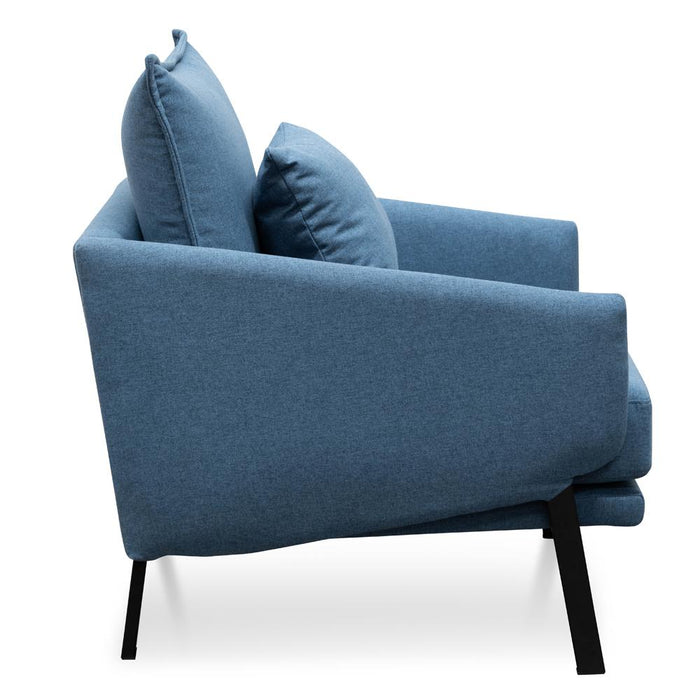 Moreno Lounge Chair - Blue Fabric