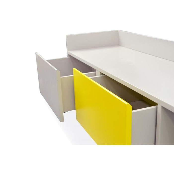 Morris Lowline 180cm TV Entertainment Unit - Yellow and Grey