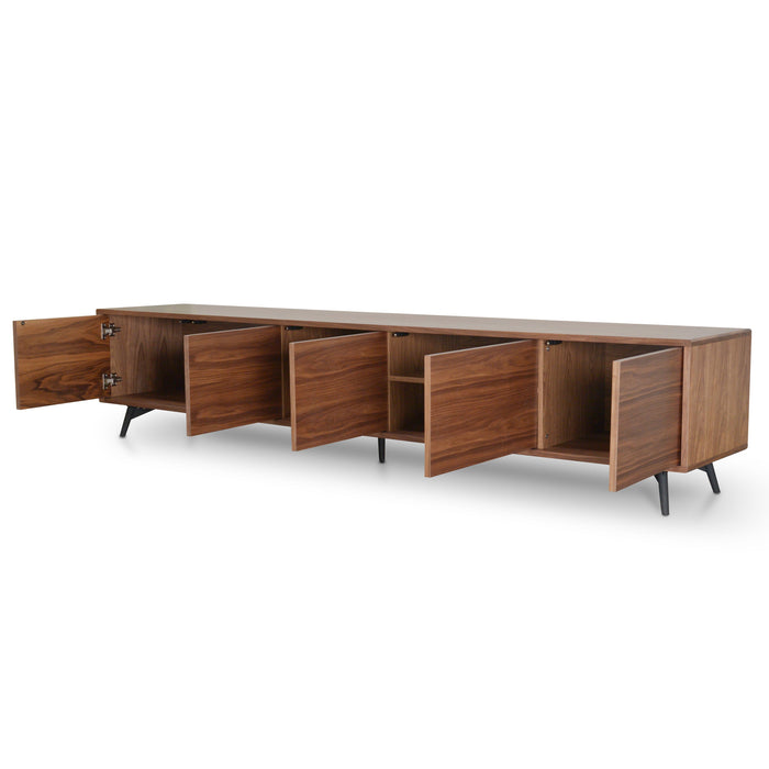 Nelson 2.4m TV Entertainment  Unit - Walnut