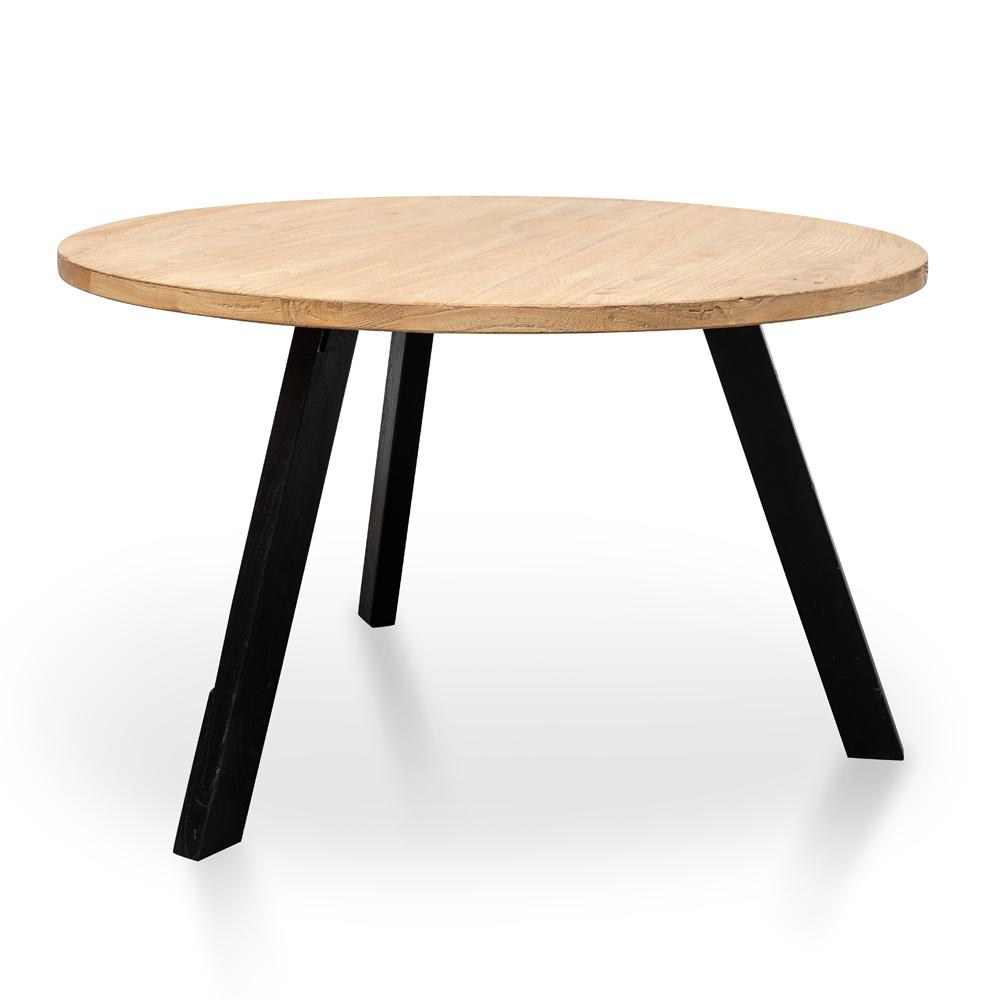 Nena Reclaimed 1 25m Round Dining Table Black L Interior Secrets