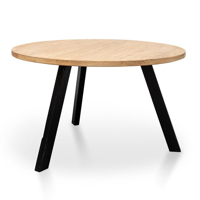 Nena Reclaimed 1.25m Round Dining Table - Black Legs