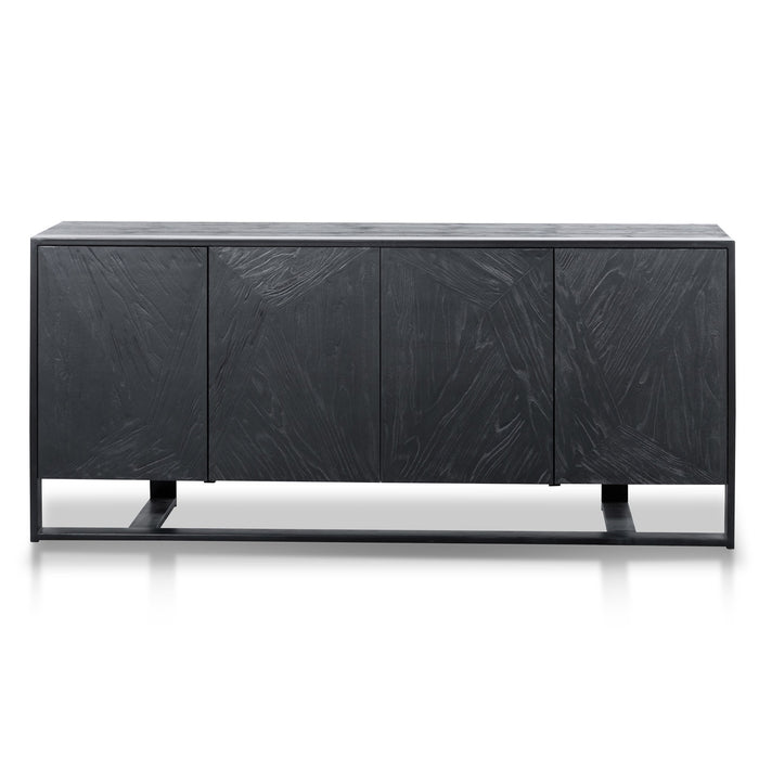 Nicole 186cm Wooden Sideboard and Buffet - Full Black