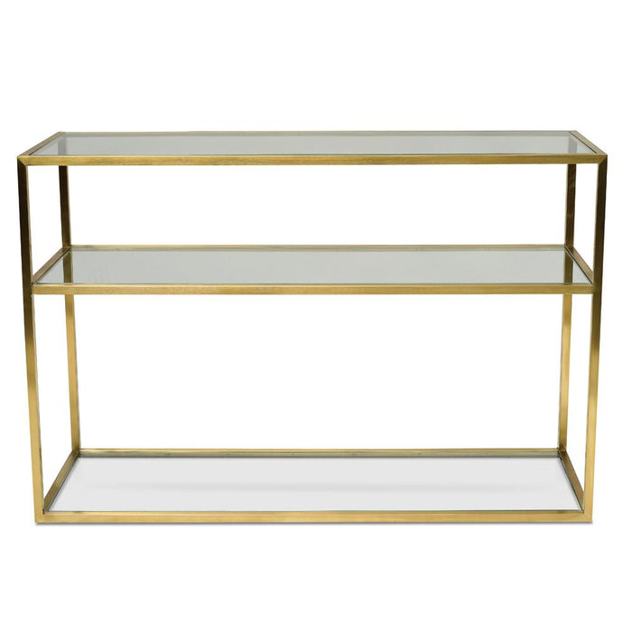 Noel 1.2m Glass Console Table - Gold Base