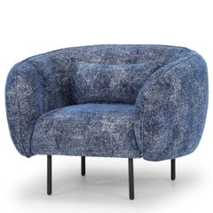 Nook Fabric Armchair - Navy